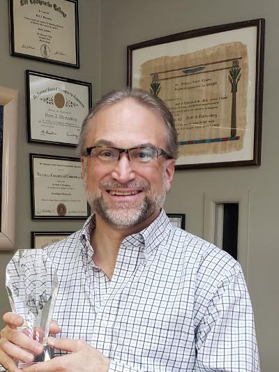 Dr. Brett Wartenberg receives Lifetime Achievement Award